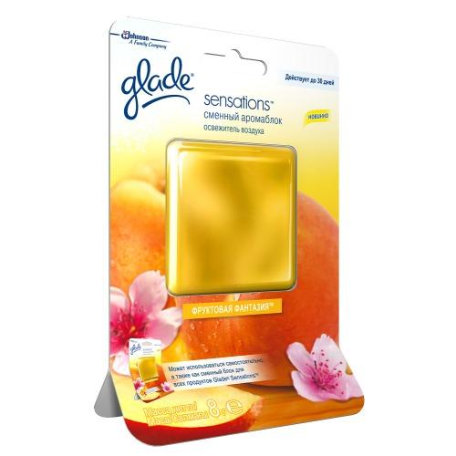 Glade GLADE освежитель воздуха АромаКристалл сменный блок Фруктовая Фантазия 8г
