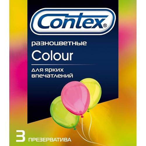 Contex CONTEX Презервативы №3 Colour разноцветные
