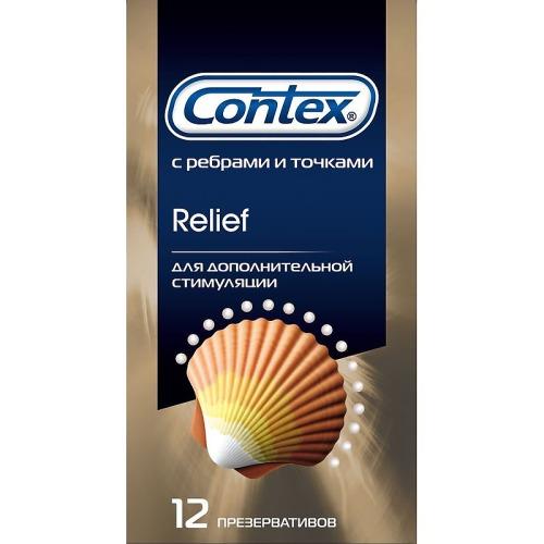 Contex CONTEX Презервативы №12 Relief микс 6 шт с точками 6 шт с ребрами
