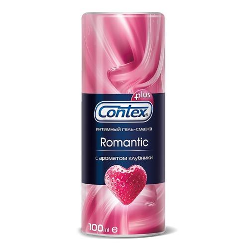 Contex CONTEX Гель-смазка интимный Plus Romantic с ароматом клубники 100мл