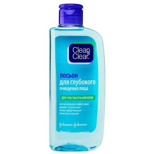 Clean&Clear Clean&Clear Лосьон для глубокого очищения лица для чувствительной кожи 200мл