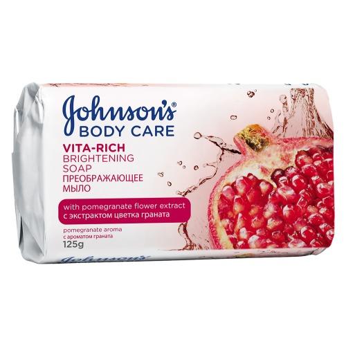Johnson`s Johnson's Body Care VITA-RICH Преображающее мыло с экстрактом цветка граната c ароматом граната 125 г