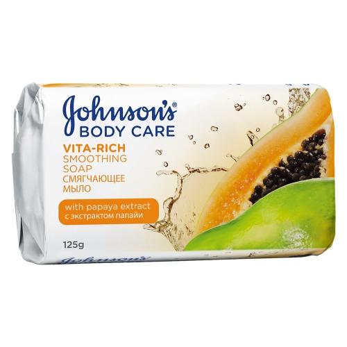 Johnson`s Johnson's Body Care VITA-RICH Смягчающе мыло с экстрактом папайи 125 г