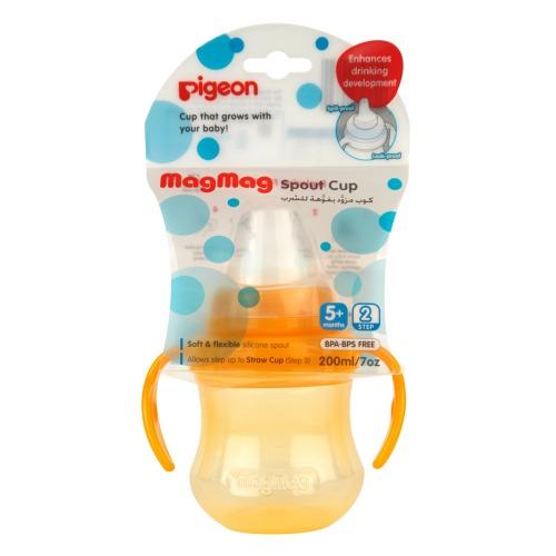 PIGEON РIGEON Поильник MagMag шаг 2 с мягким носиком 5 мес 200 мл