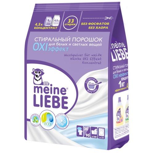 Meine Liebe MEINE LIEBE Стиральный порошок для белых и светлых вещей OXI эффект Концентрат 1000г