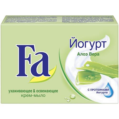 Fa Fa Мыло Кусковое YOGHURT Алоэ Вера 90г