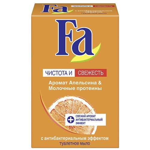 Fa Fa Мыло Кусковое Чистота и Уход Цитрус в ассортименте Грейпфрут/ апельсин & Молочные протеины 90г