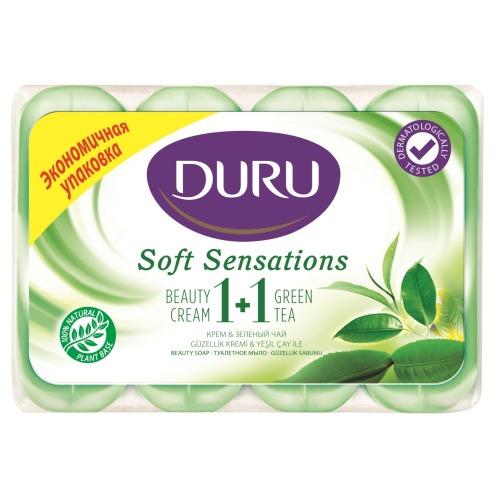 Duru DURU SOFT SENS Мыло Зеленый чай э/пак 4*90г