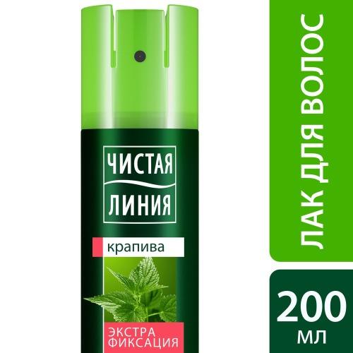 Чистая Линия ЧИСТАЯ ЛИНИЯ Лак для укладки волос Экстрафиксация 200мл