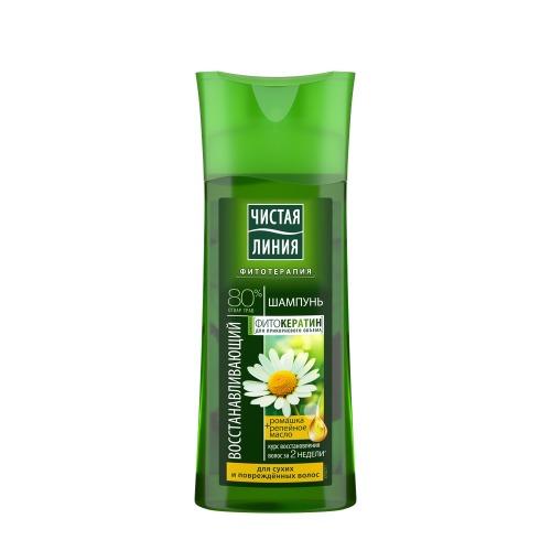 Чистая Линия ЧИСТАЯ ЛИНИЯ Шампунь для сухих и повреждённых волос восстанавливающий на отваре целебных трав с экстрактом ромашки 250мл