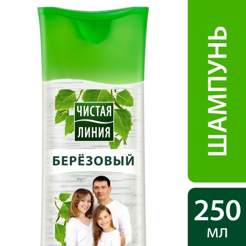 Чистая Линия ЧИСТАЯ ЛИНИЯ Шампунь для всей семьи Березовый 250мл